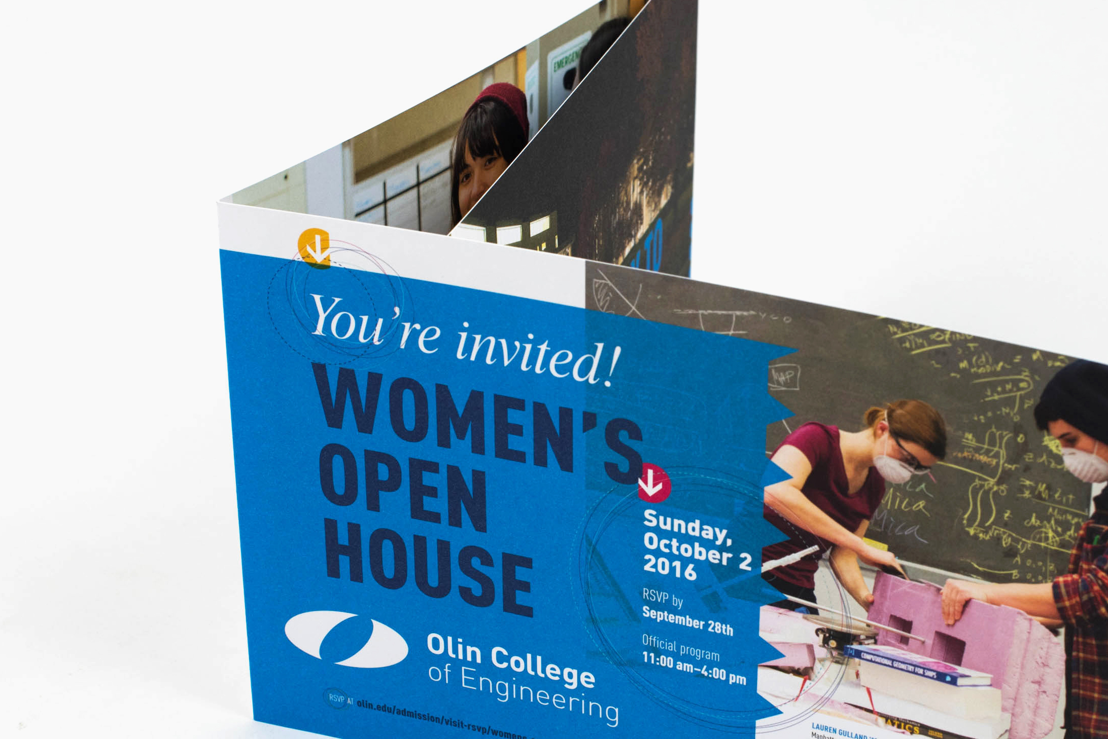 Olin College of Engineering Open House invites cover: You're invited! Women's Open House