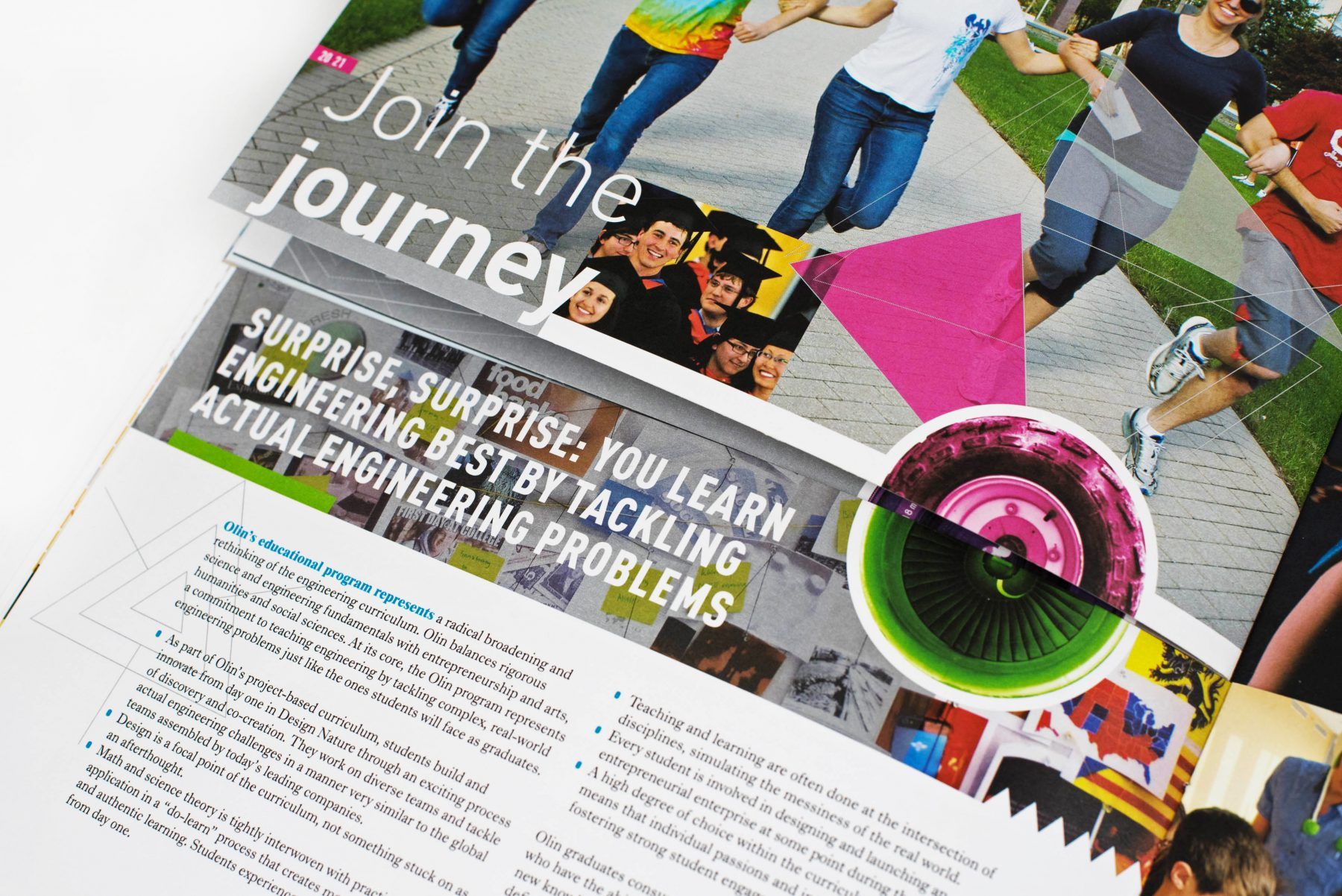 Olin College of Engineering Prospectus interior close-up: Join the Journey