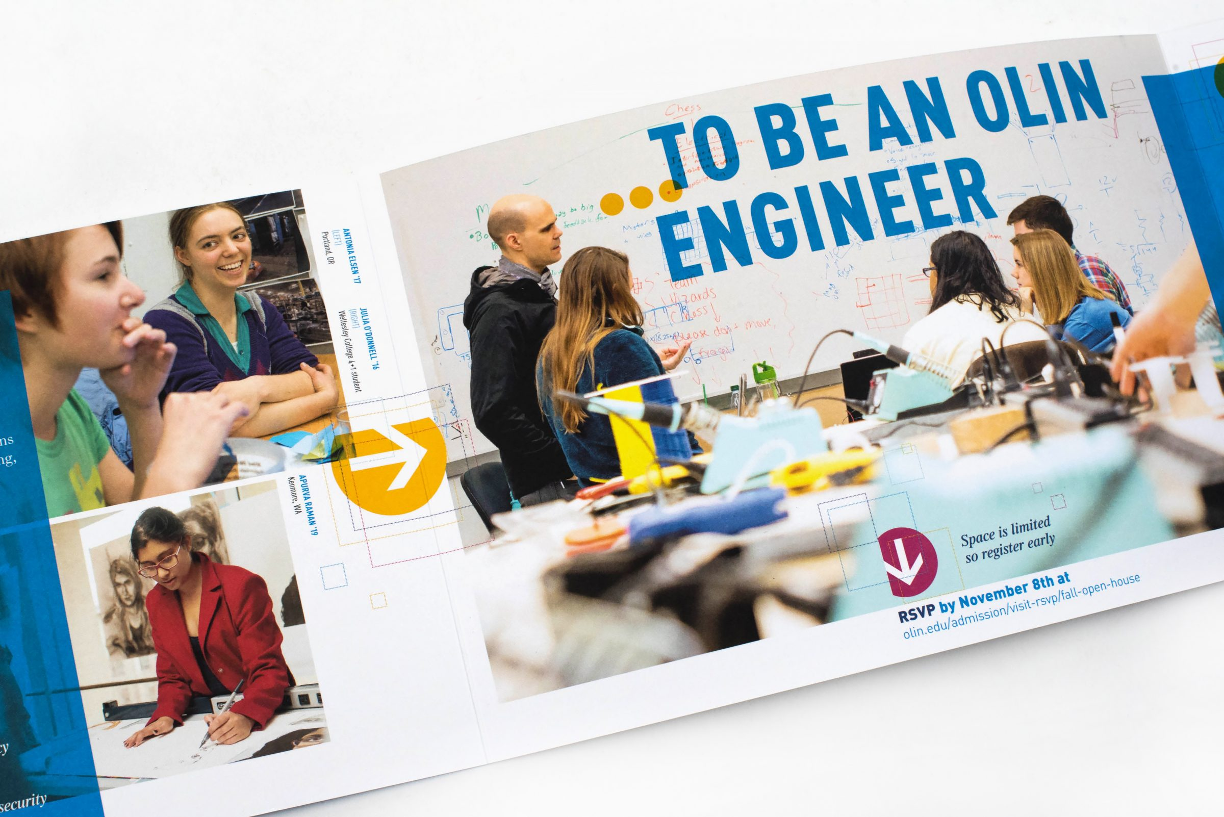 Olin College of Engineering Open House invites interior: To be an Olin engineer...