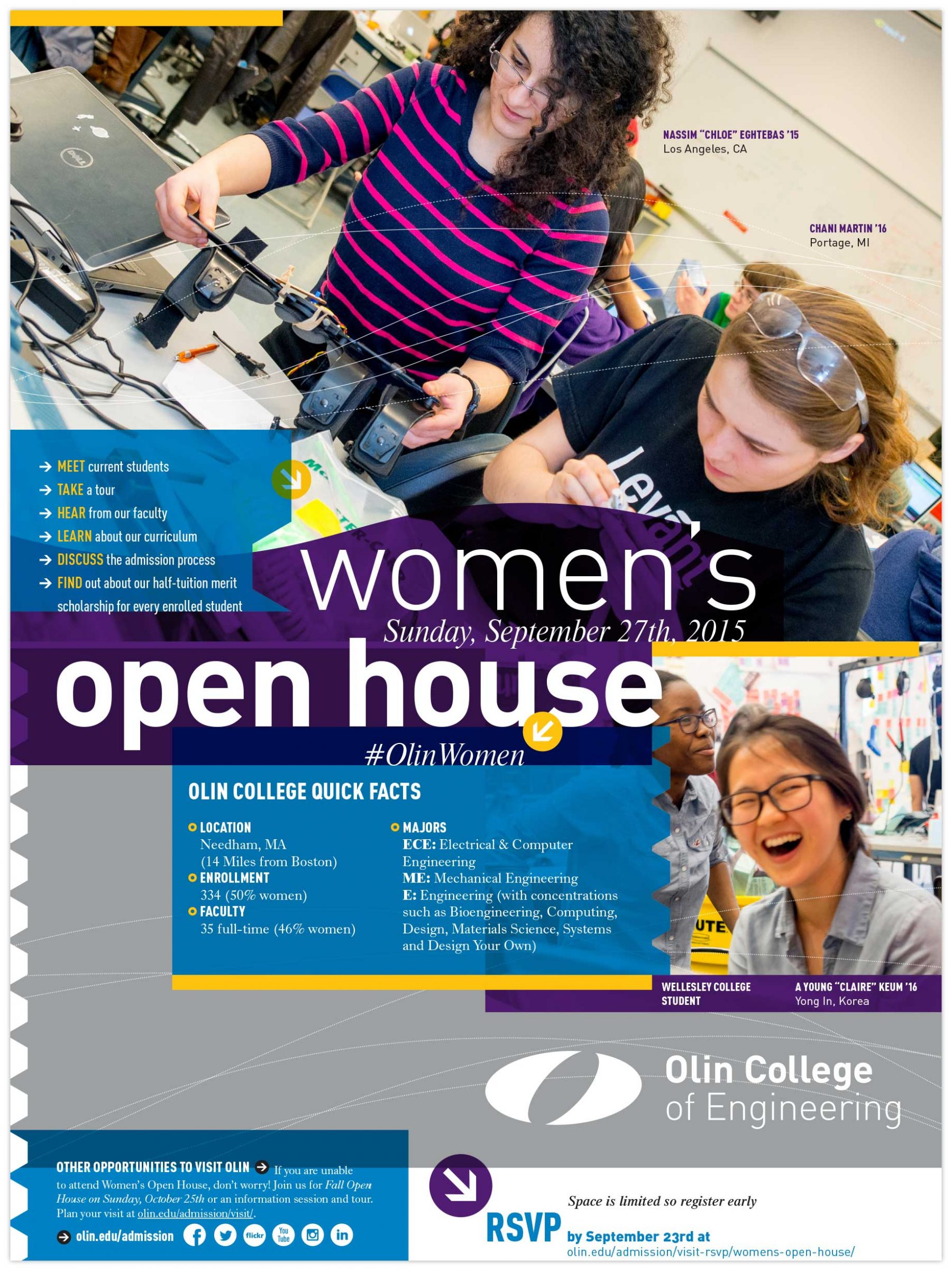 Women's Open House brochure