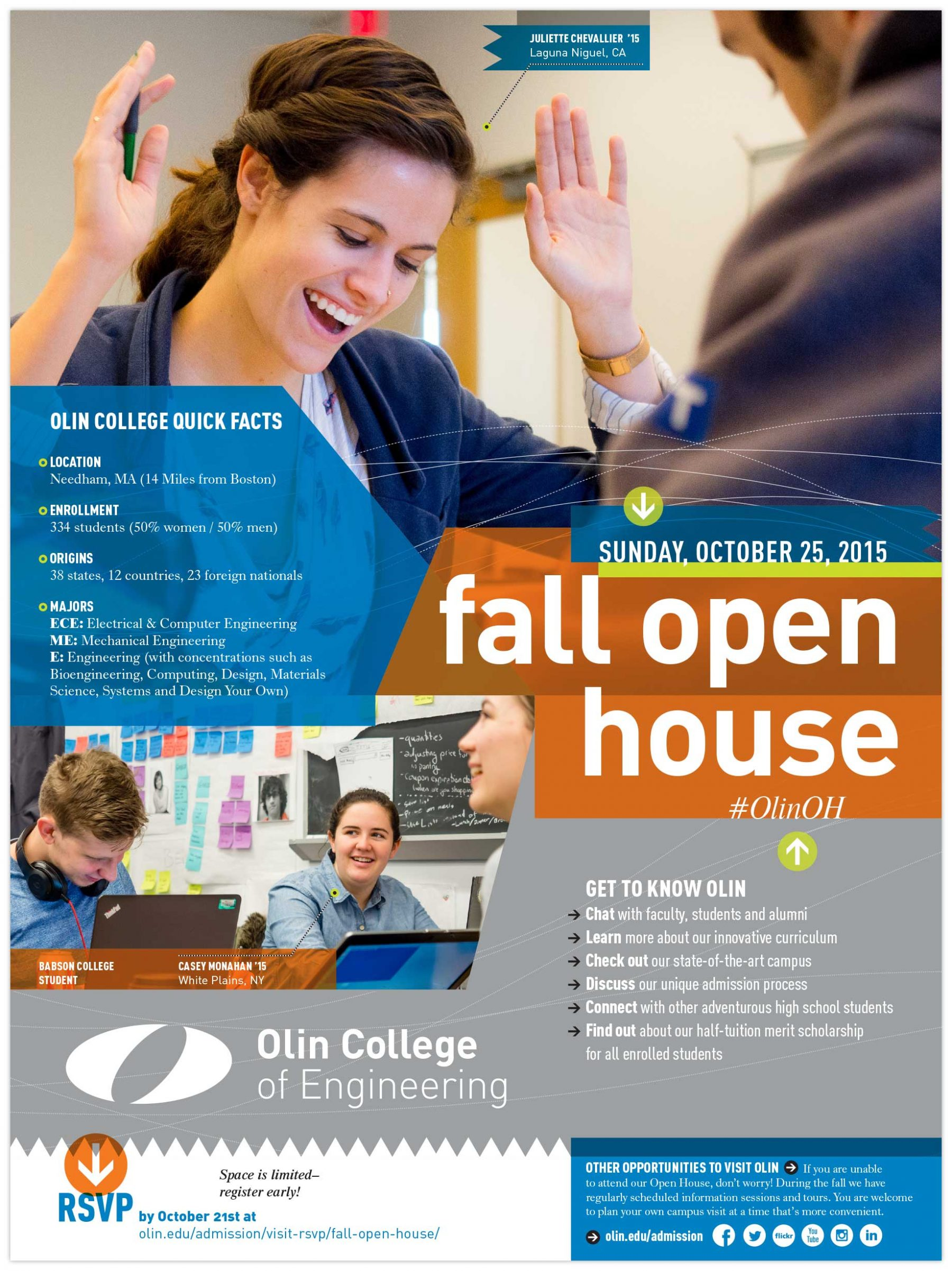 Fall Open House brochure