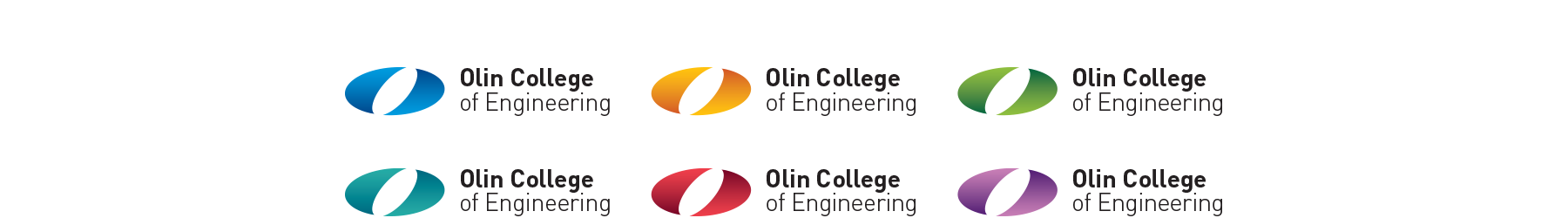 Olin College of Engineering identifier in six colors