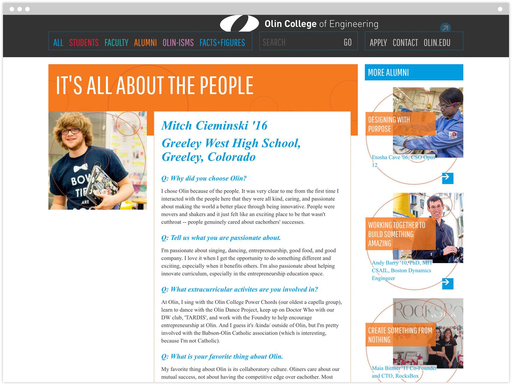 Microsite student profile