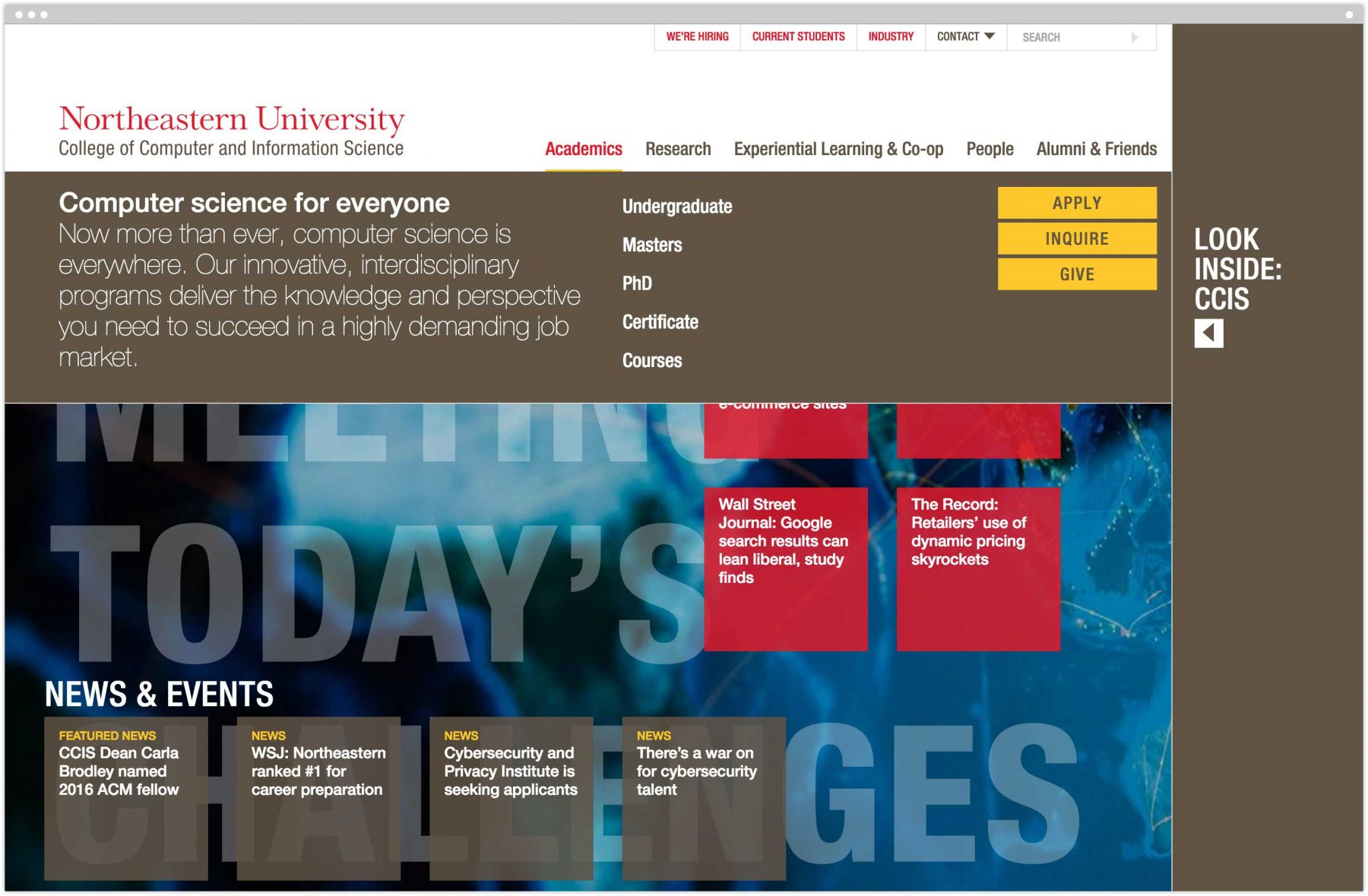Northeastern University College of Computer and Information Science homepage