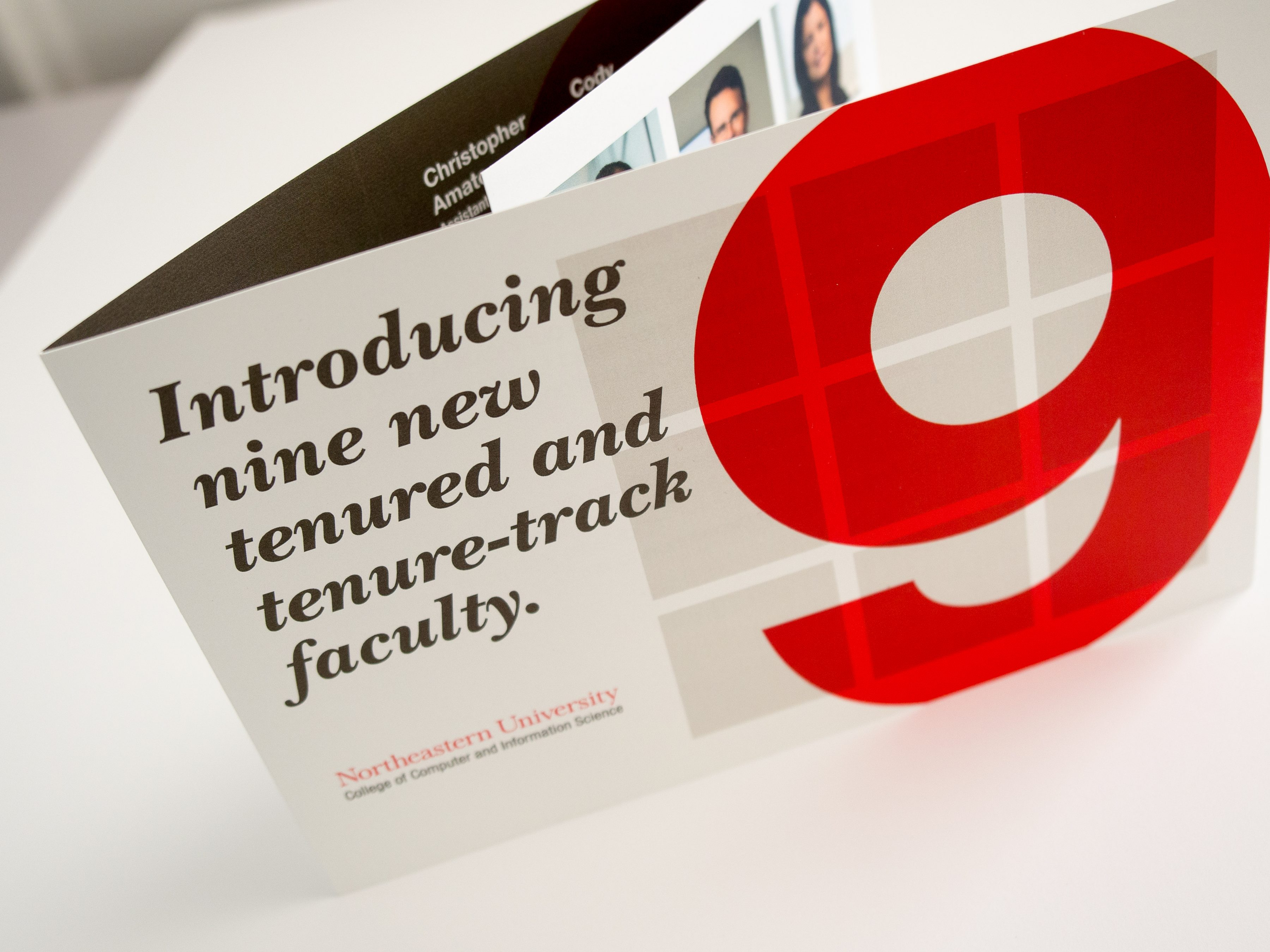 Faculty intro print collateral