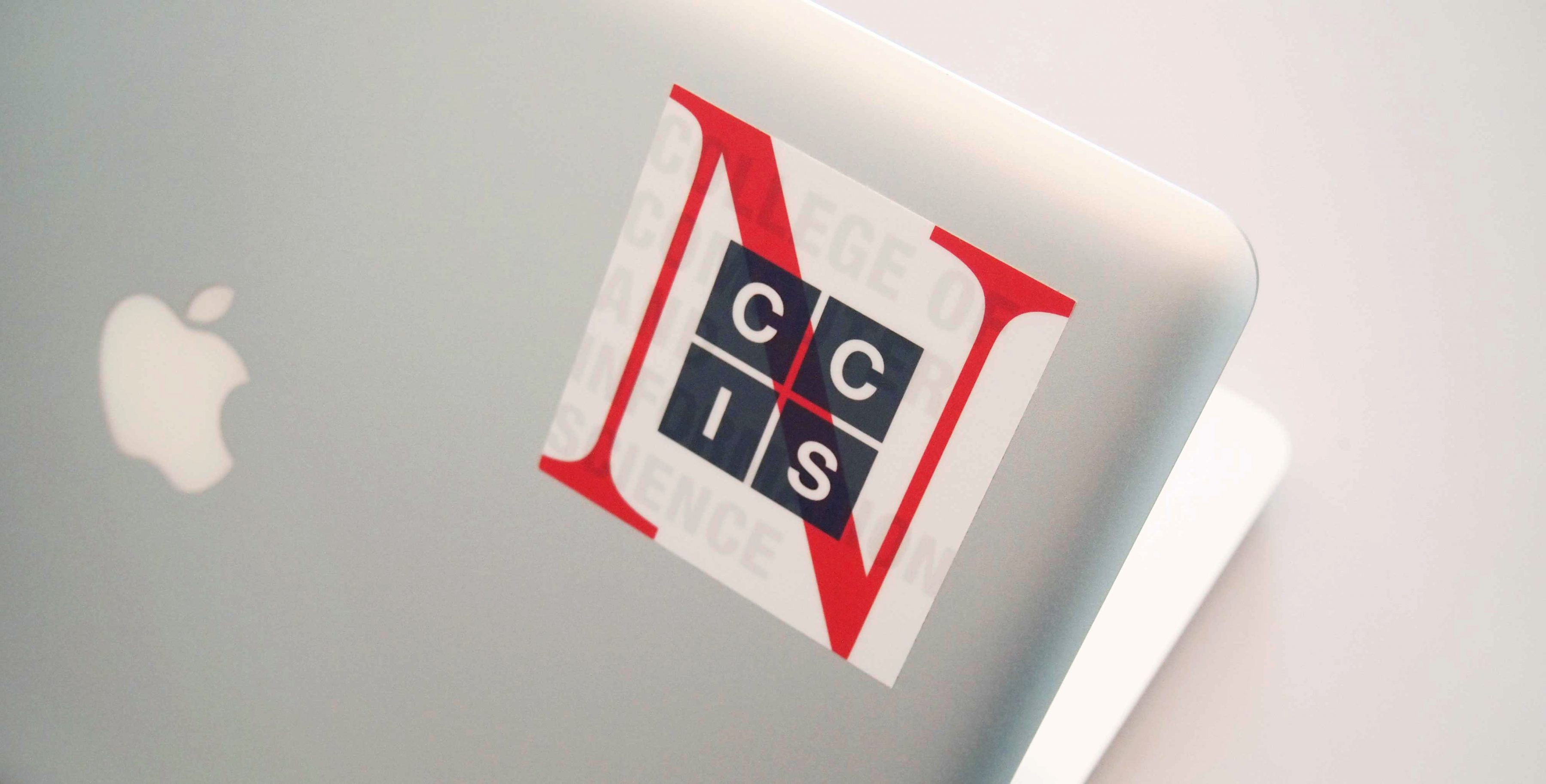 CCIS sticker on a laptop