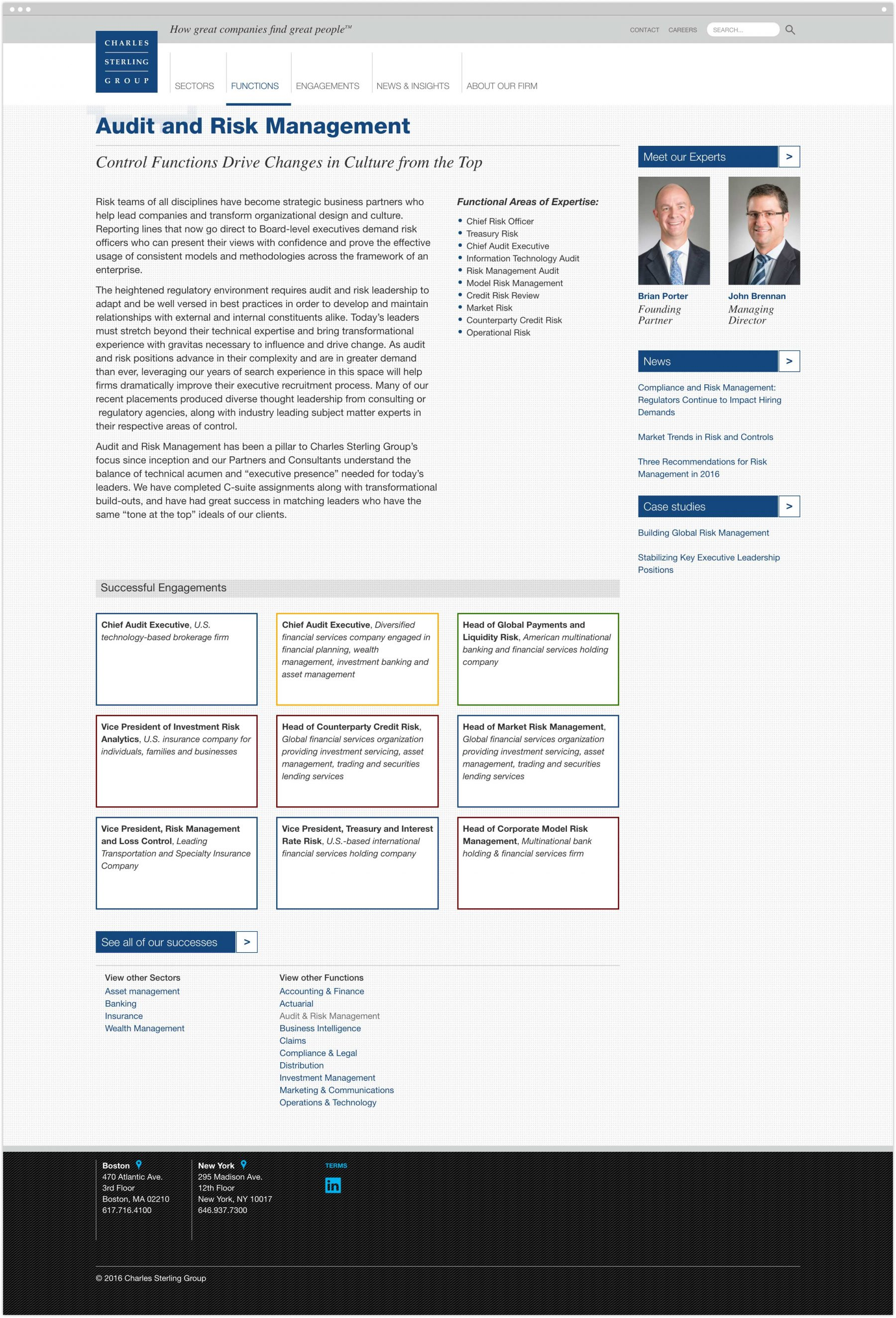 Audit and Risk Management interior page
