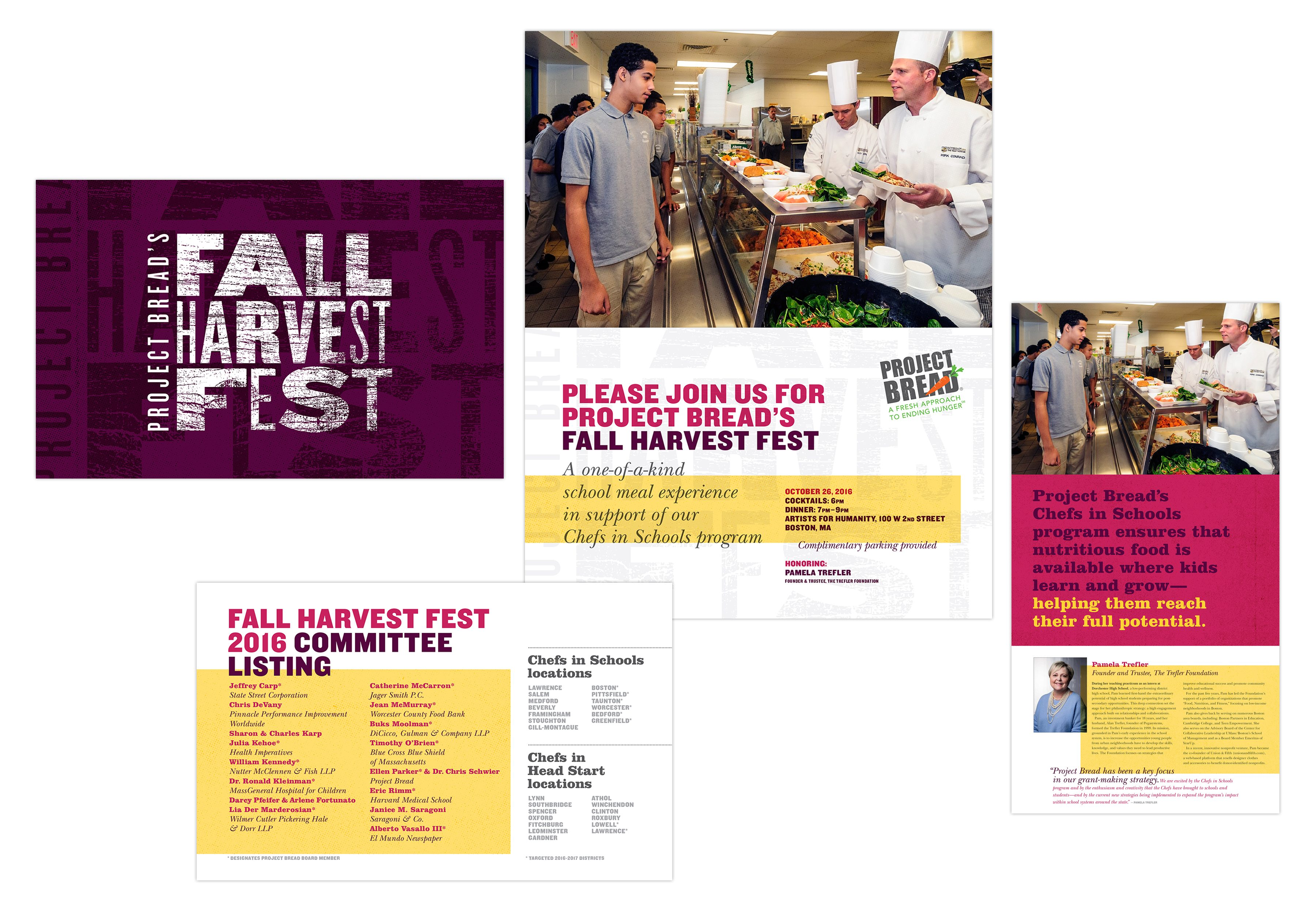 Project Bread 2016 Fall Harvest Fest invitations