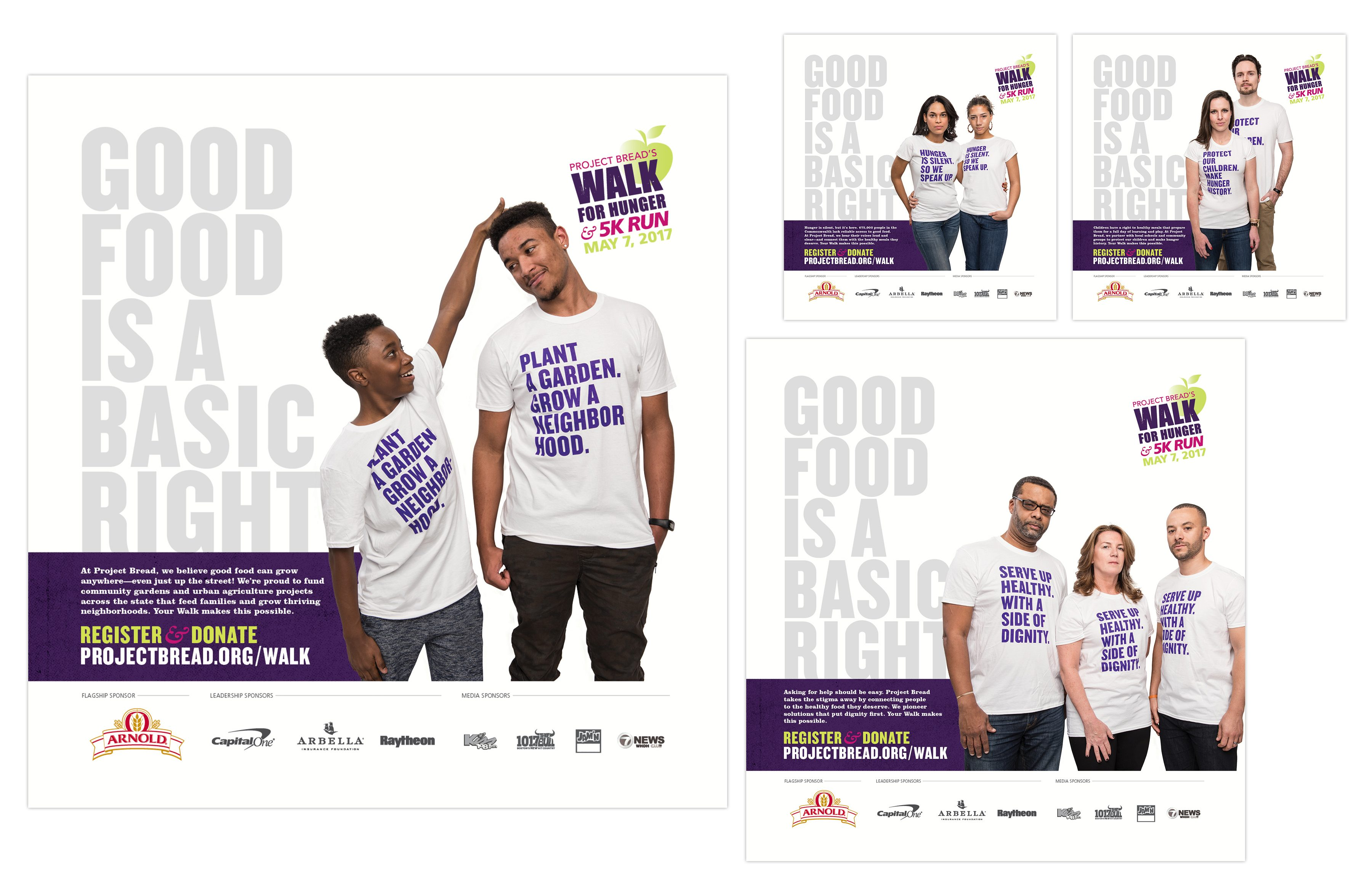 Project Bread Walk for Hunger 2017 advertisements: good food is a basic right