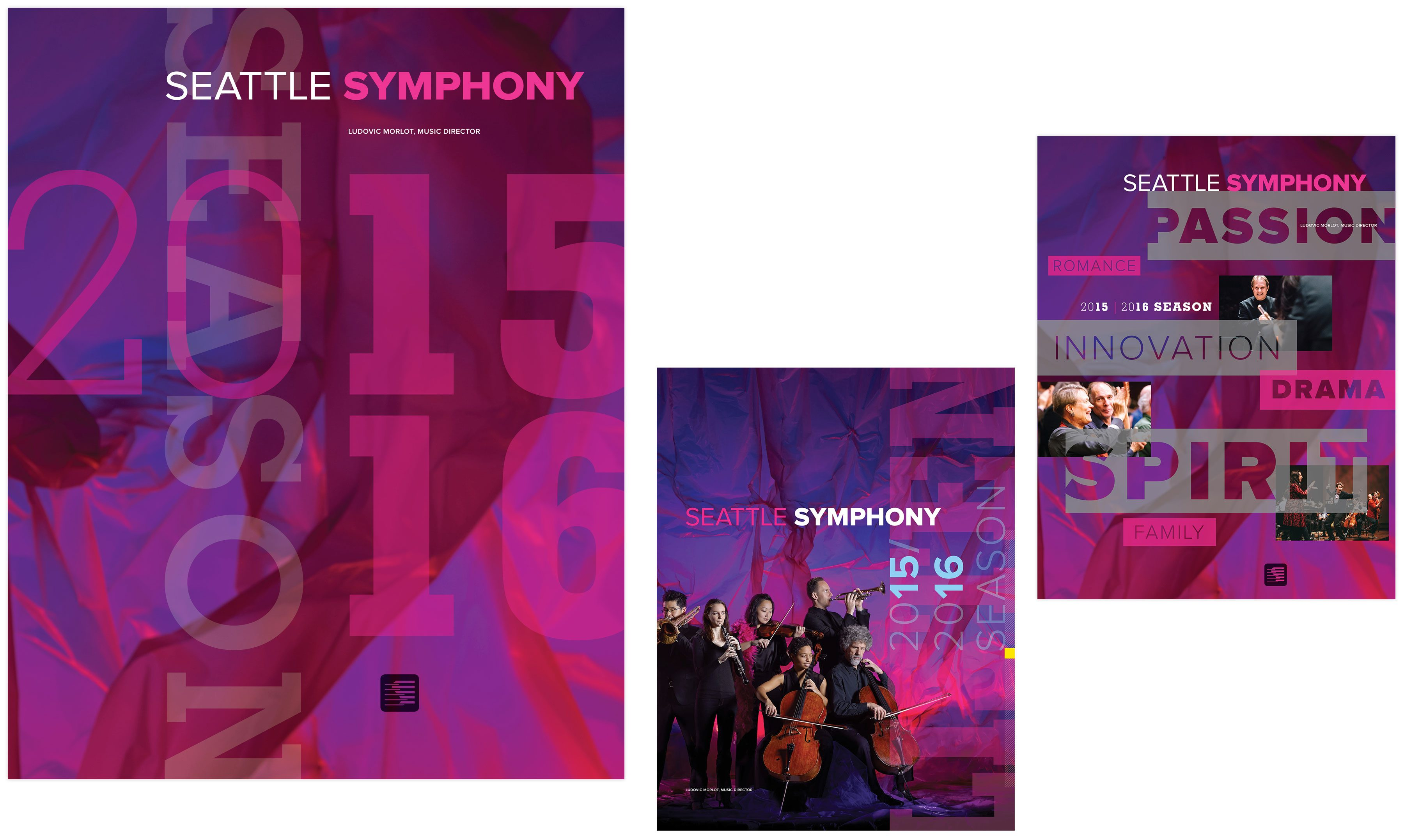 Seattle Symphony Orchestra brochure covers