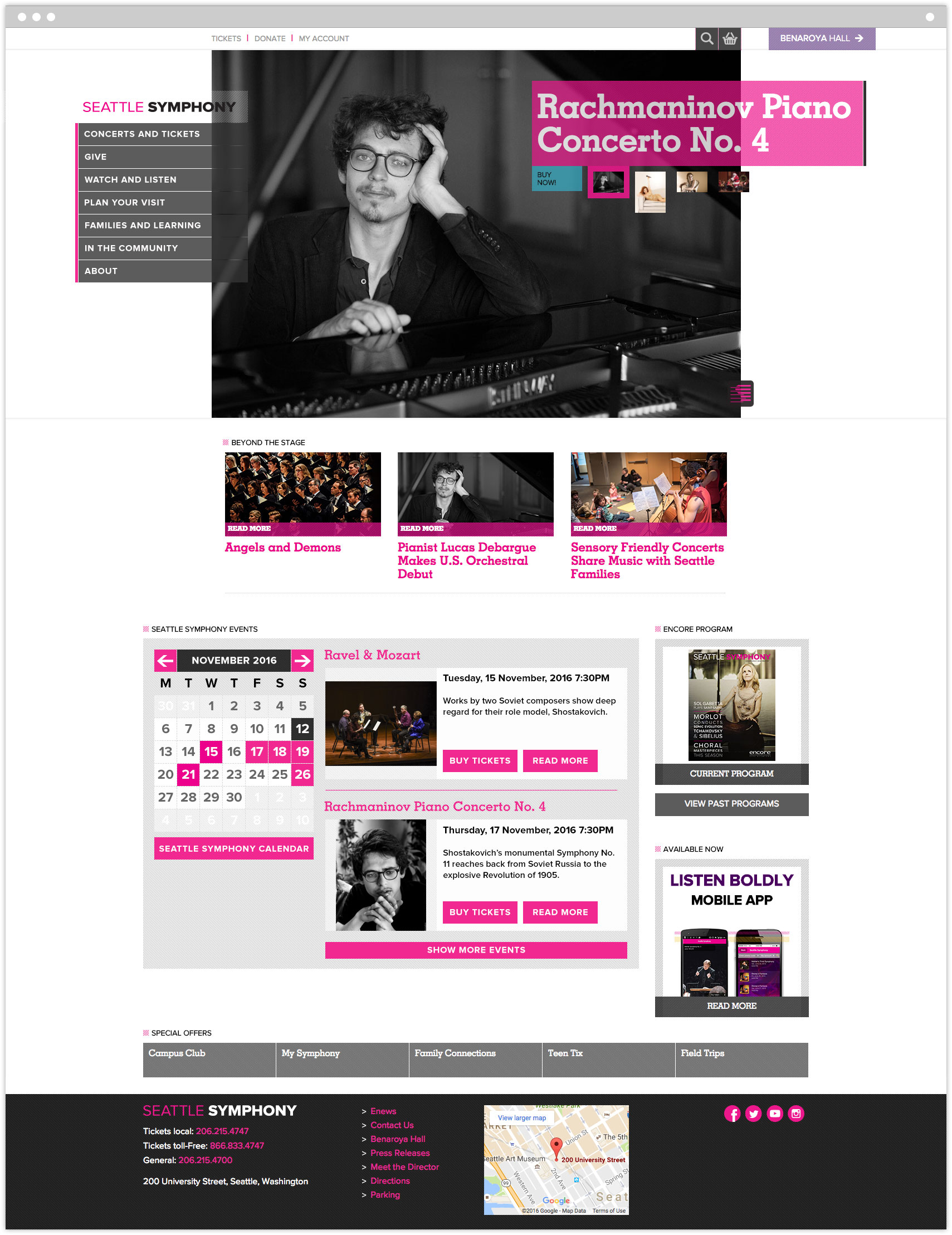 Seattle Symphony Orchestra homepage
