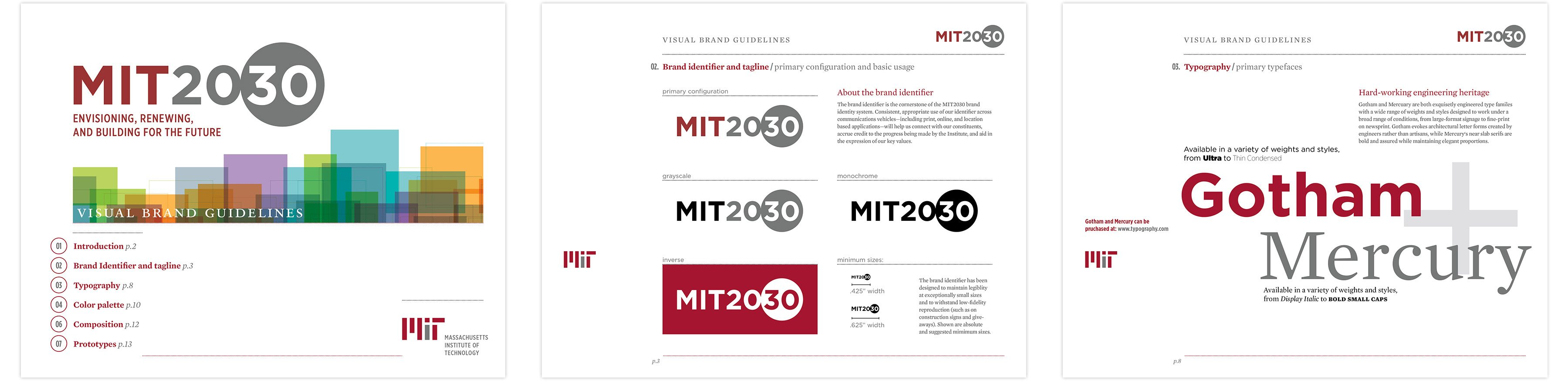 MIT 2030 brand book spread