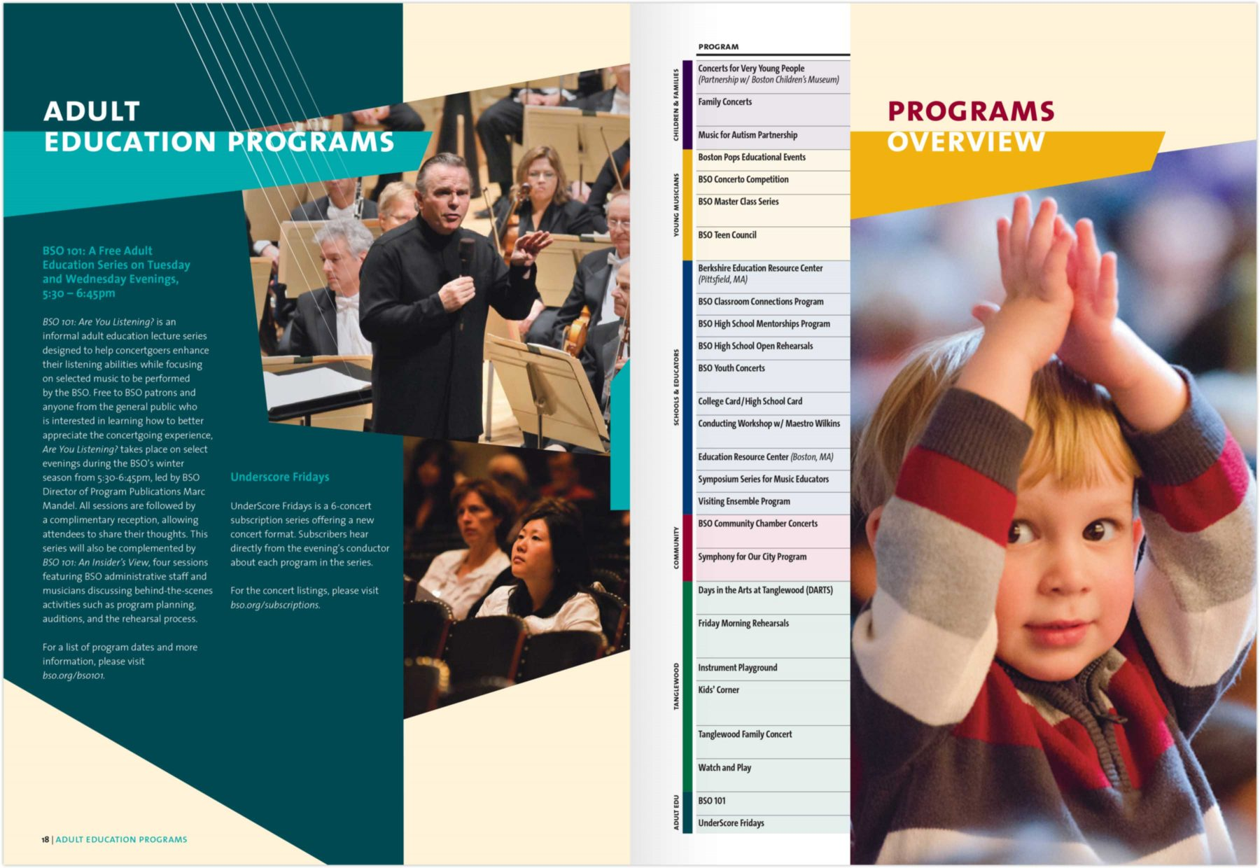 Boston Symphony Orchestra Education and Community Engagement Programs brochure