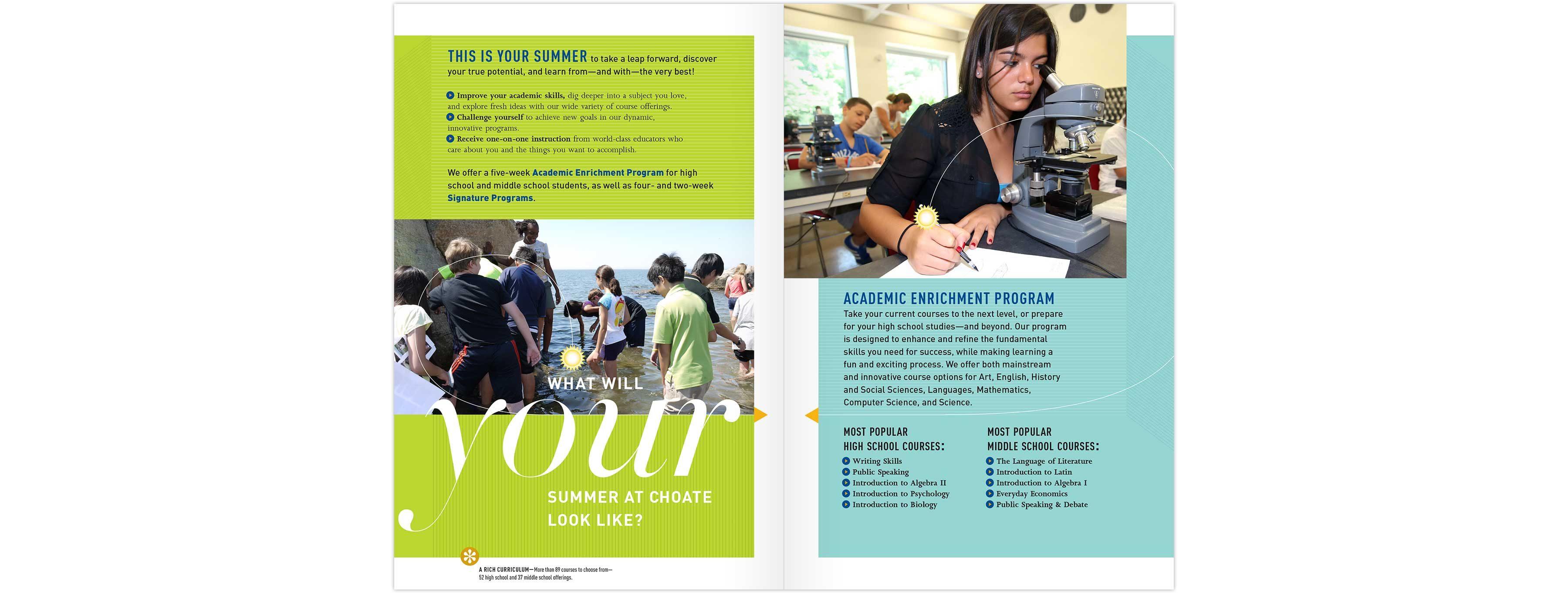 Summer brochure spread