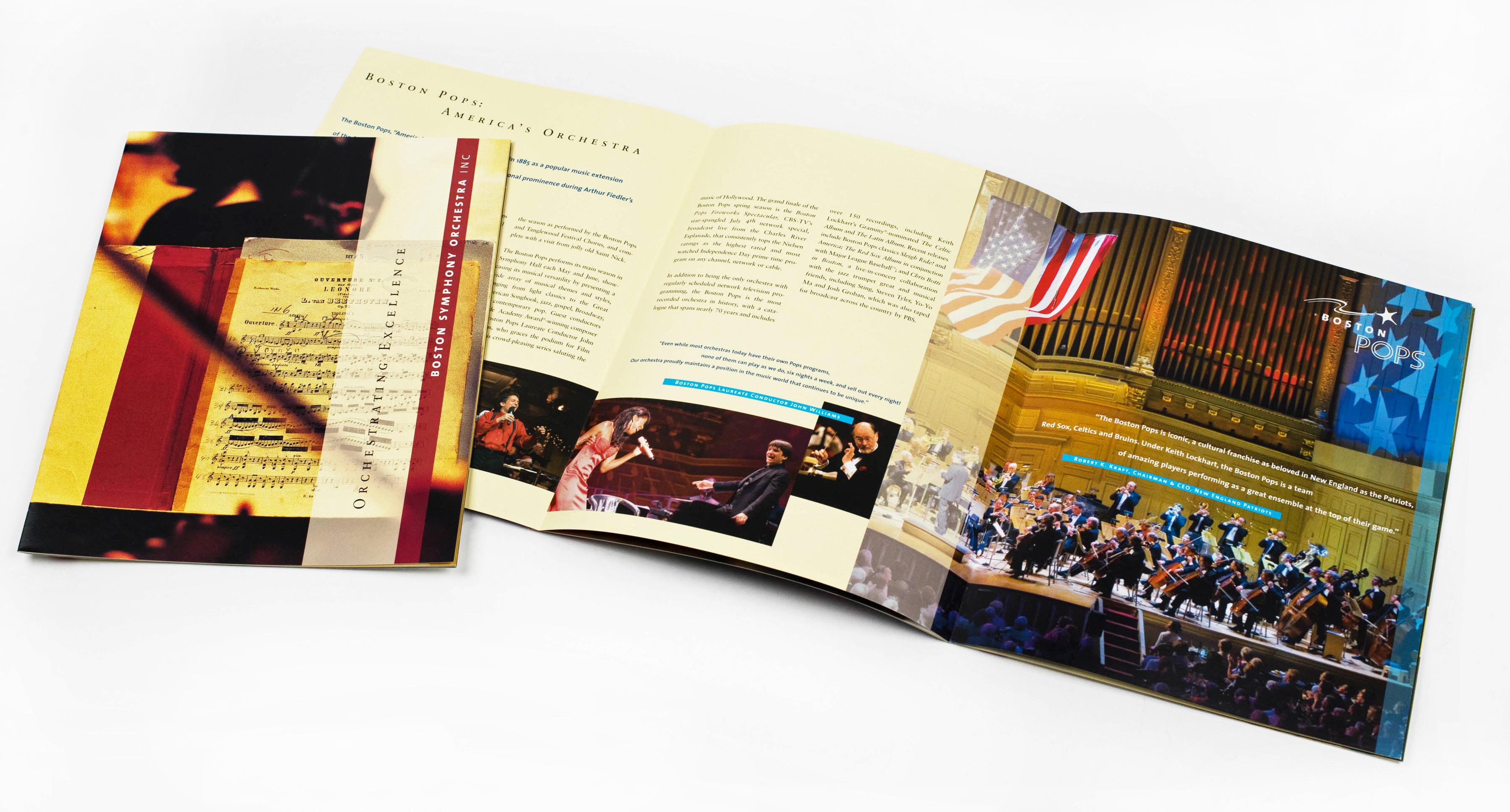 Boston Symphony Orchestra Corporate Sponsorship brochure cover and interior spread
