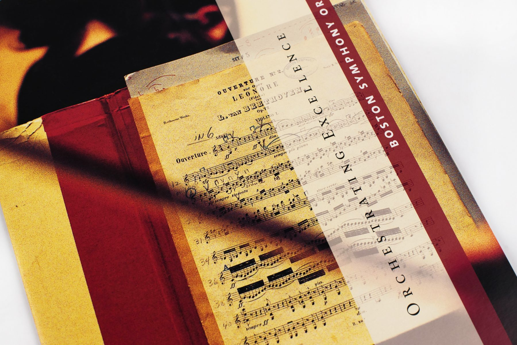 Boston Symphony Orchestra Corporate Sponsorship brochure cover up-close