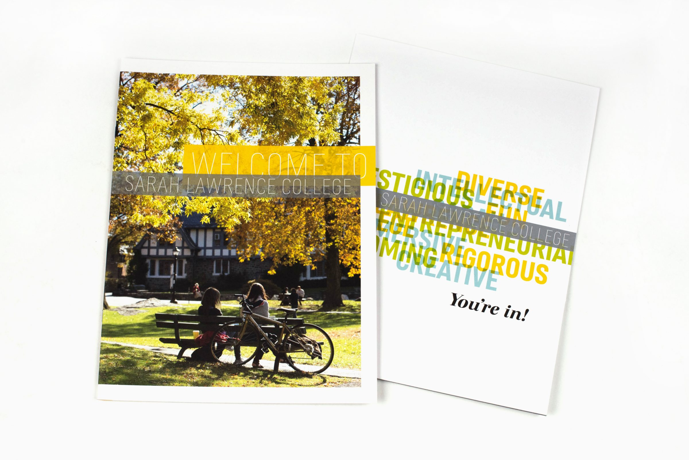Sarah Lawrence College motivational brochure cover: Welcome to Sarah Lawrence College