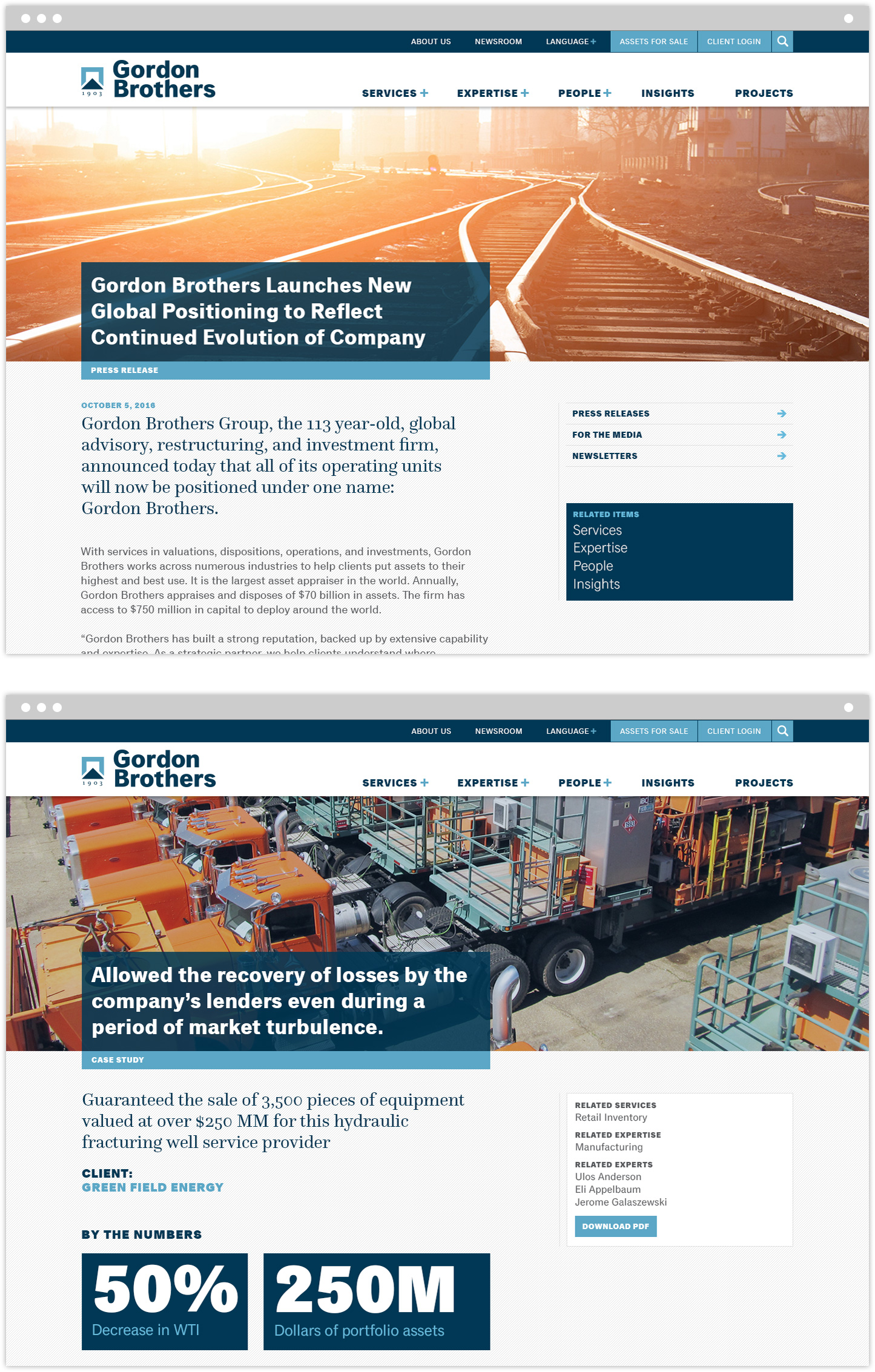 Gordon Brothers Launches New Global Positioning to Reflect Continued Evolution of Company press release interior page