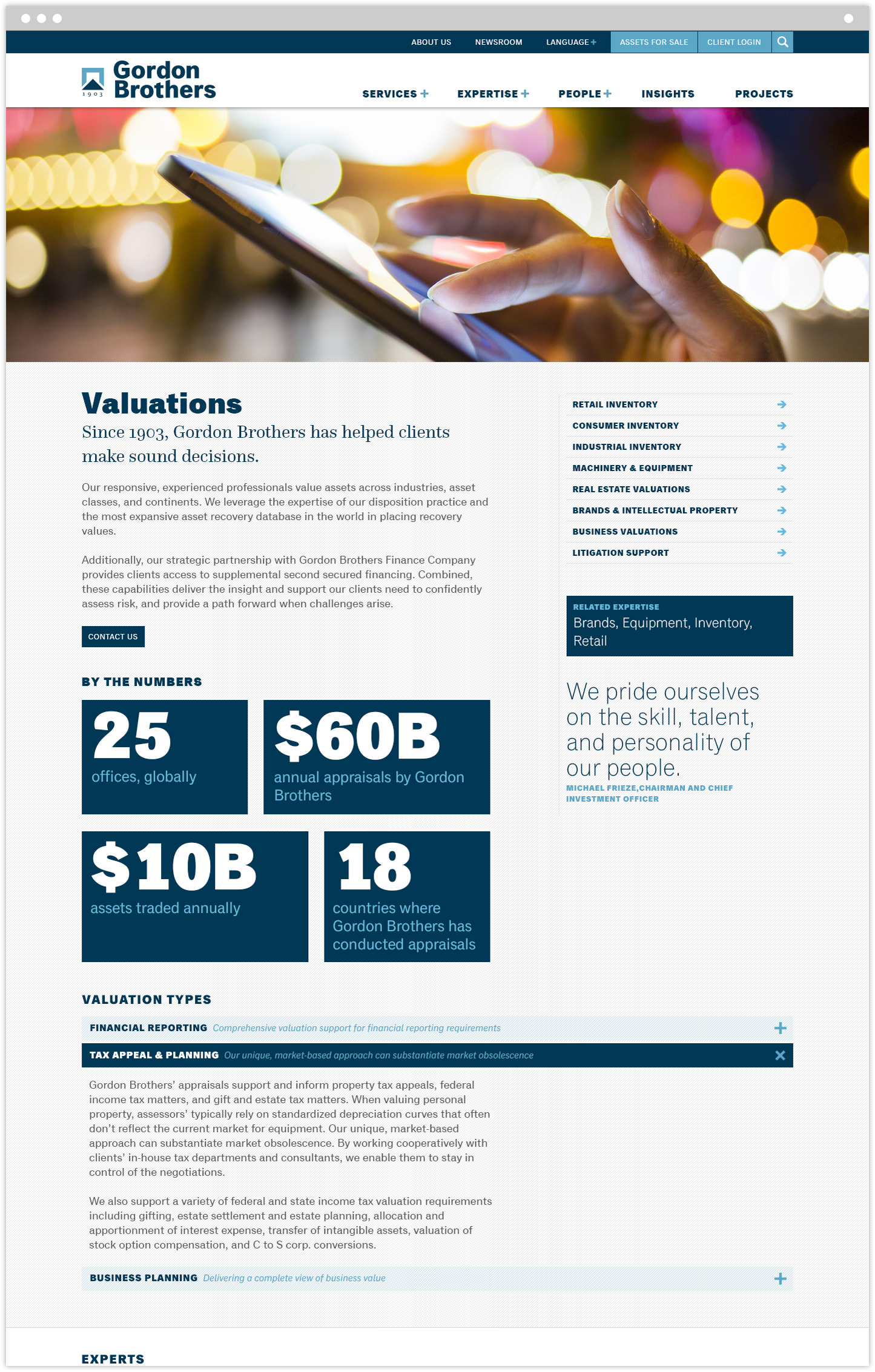 Valuations interior page