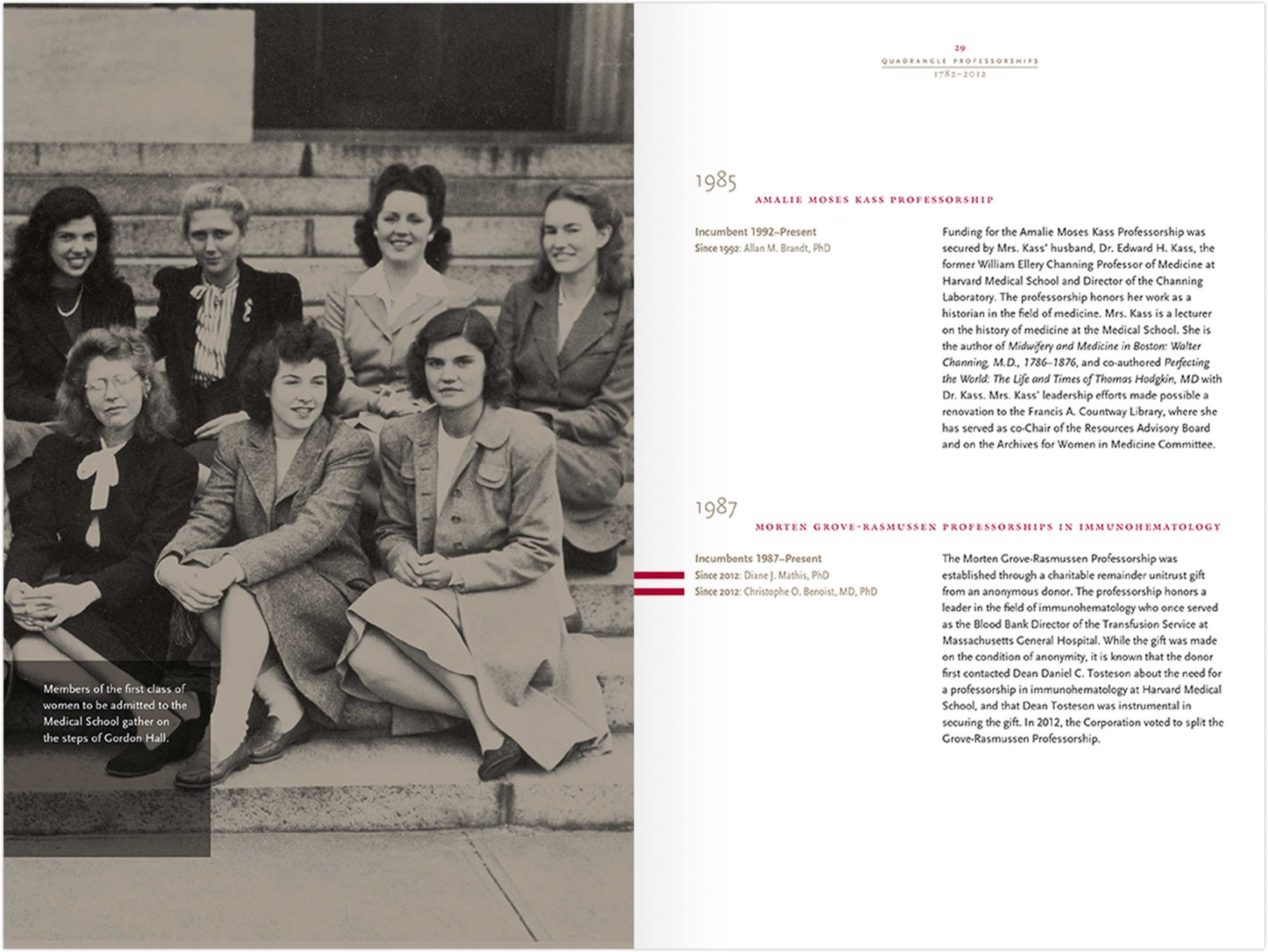 Harvard Medical School Quadrangle Professorships brochure