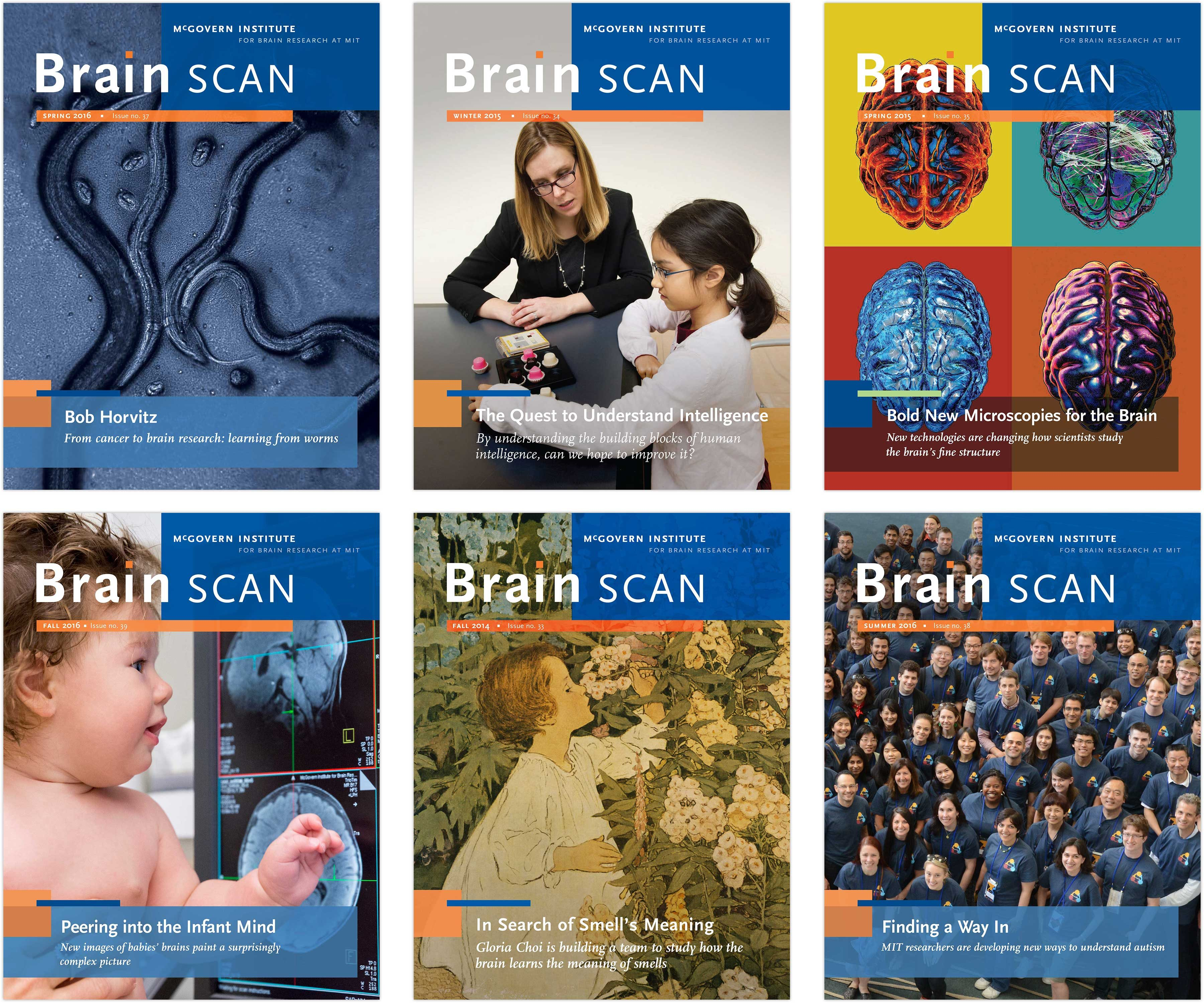 Brain Scan newsletter covers