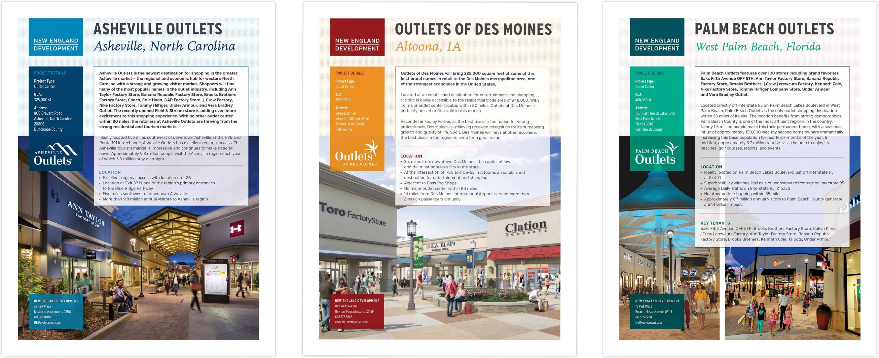 Outlet Fact sheets spread