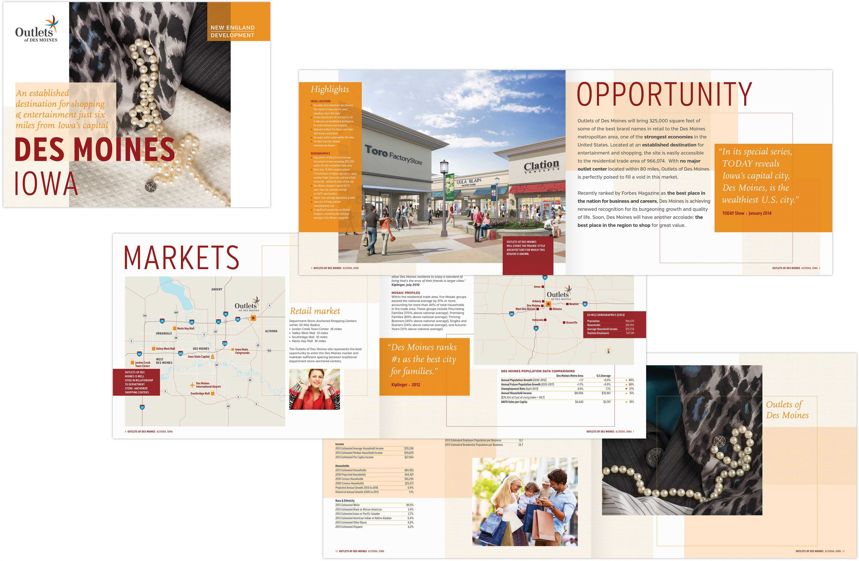 DesMoines Outlet project book spread