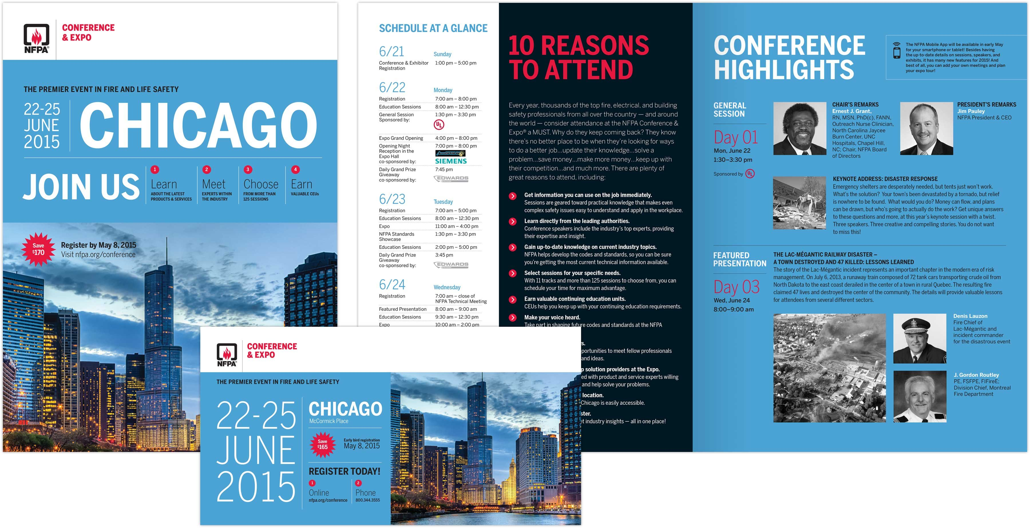 NFPA Chicago Expo print collateral