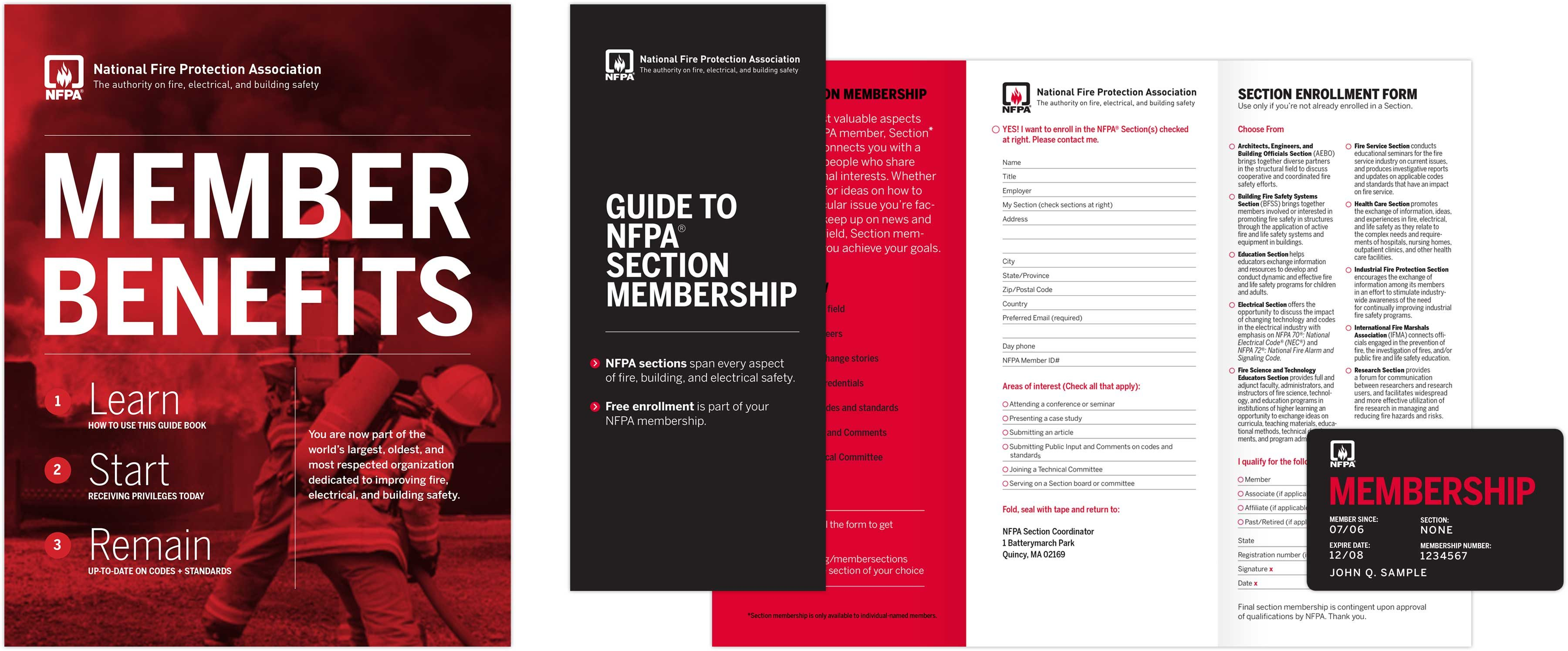 NFPA Member Benefits print collateral