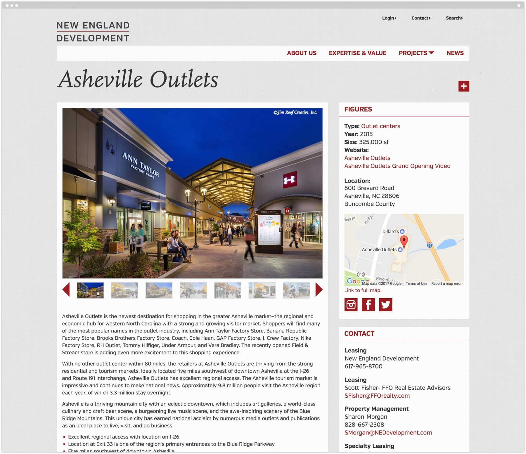 Asheville Outlets interior page