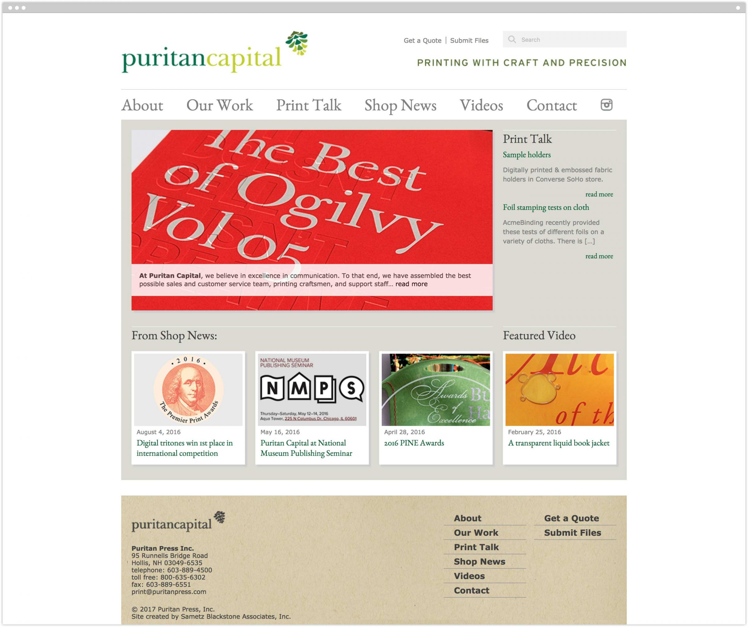 Puritan Capital homepage