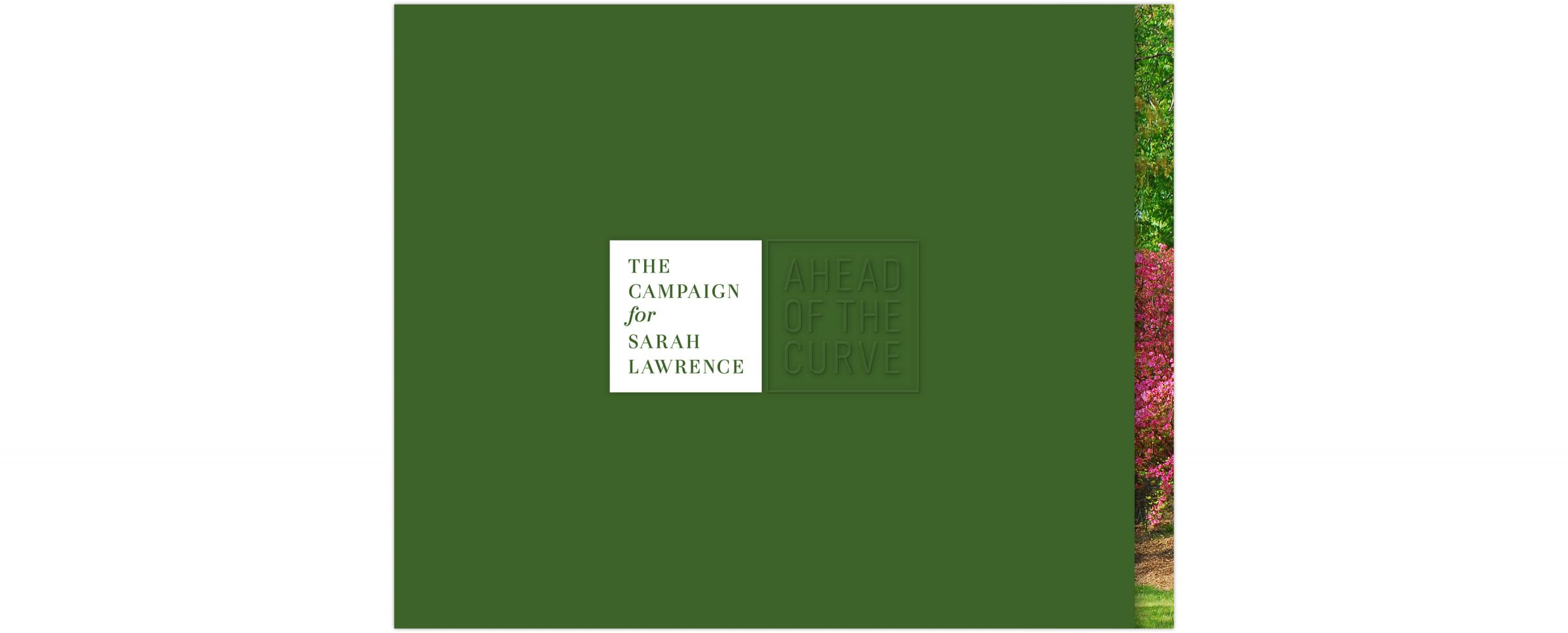 The Campaign for Sarah Lawrence brochure case