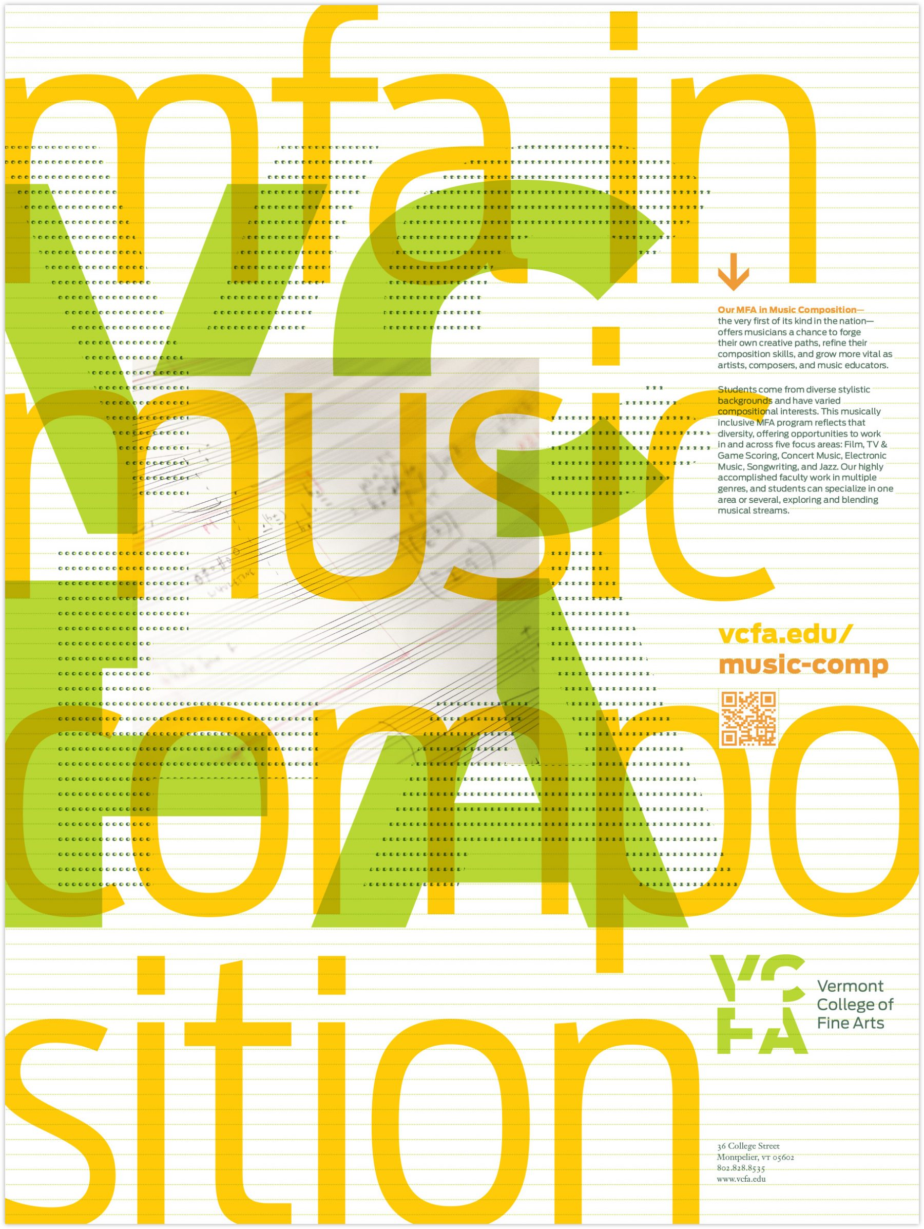 MFA in Music Composition poster