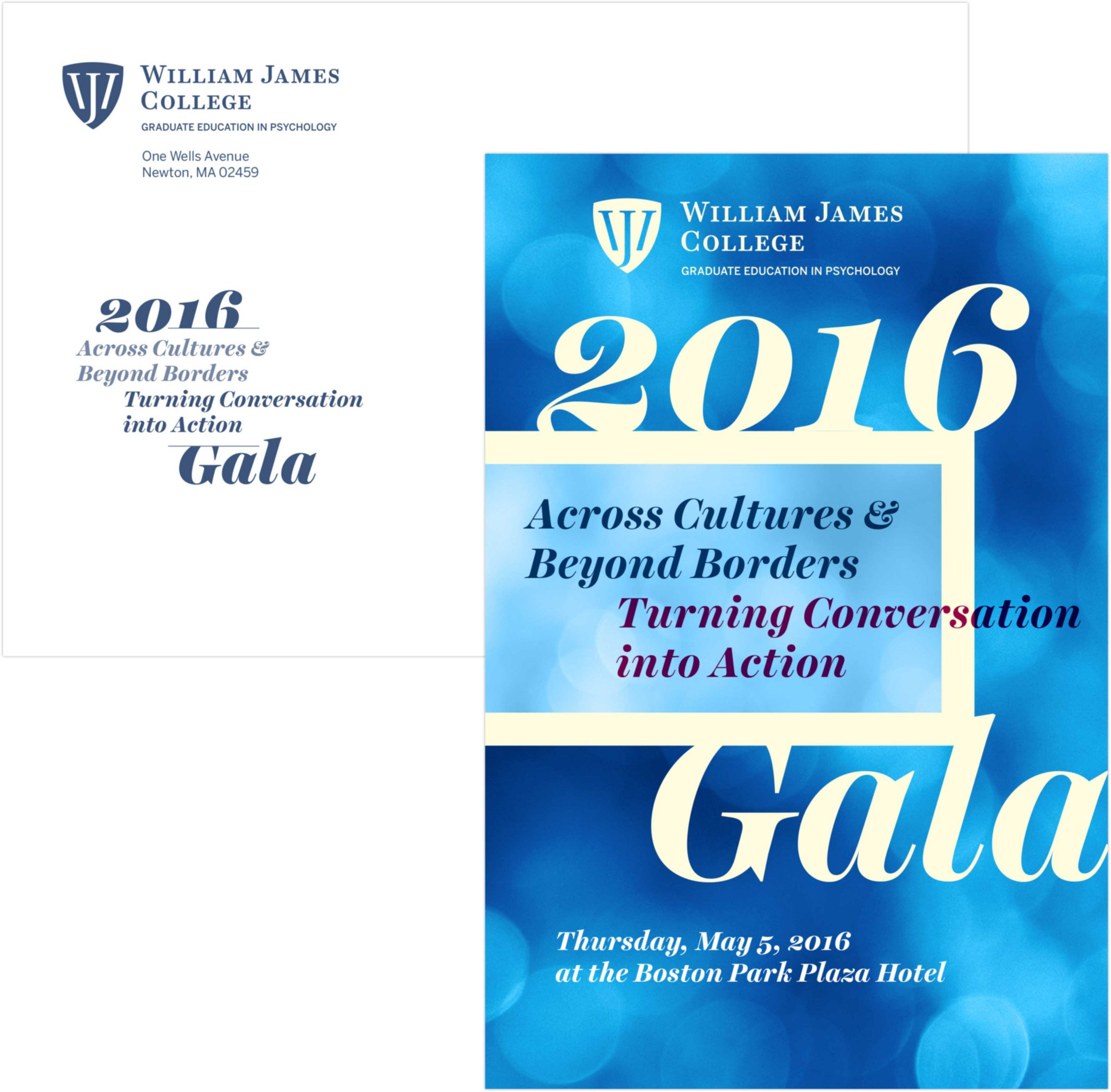 William James College Gala invitation