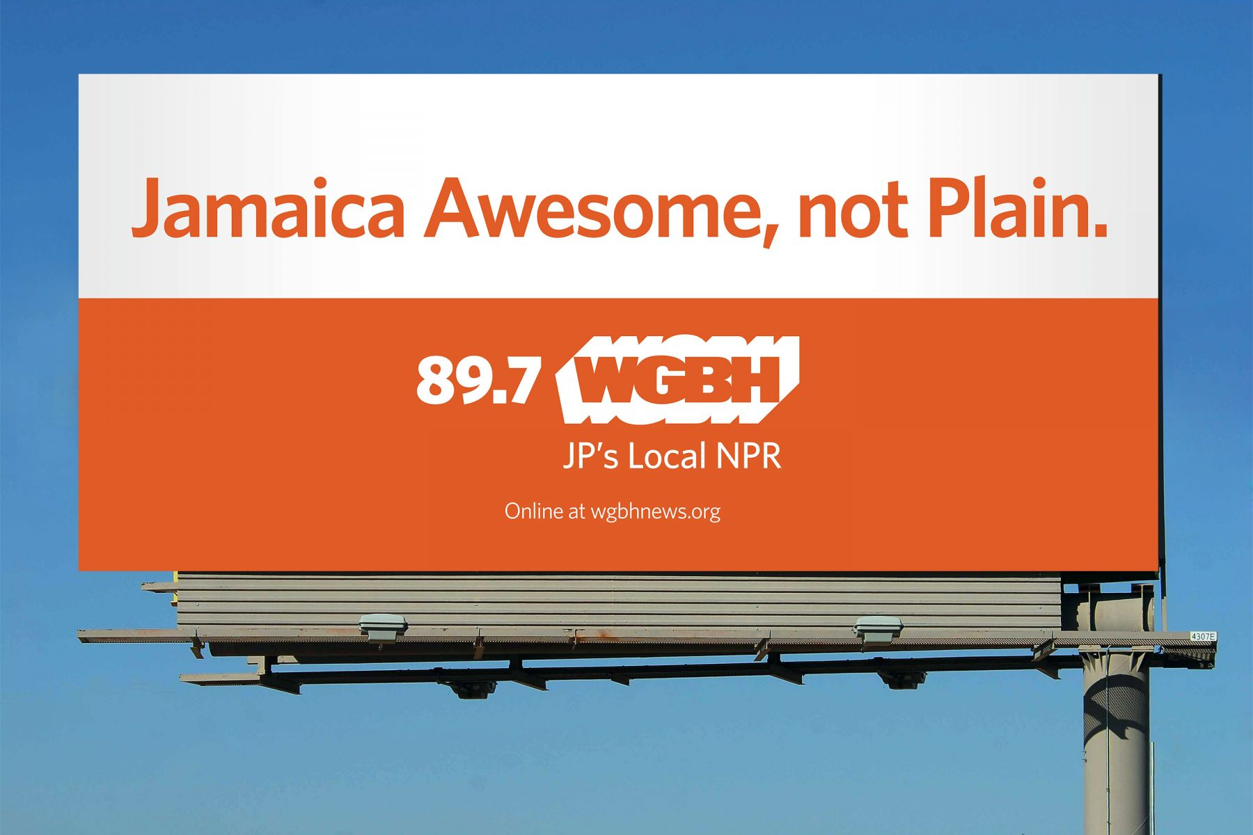 WGBH Billboard: Jamaica Awesome, not Plain.