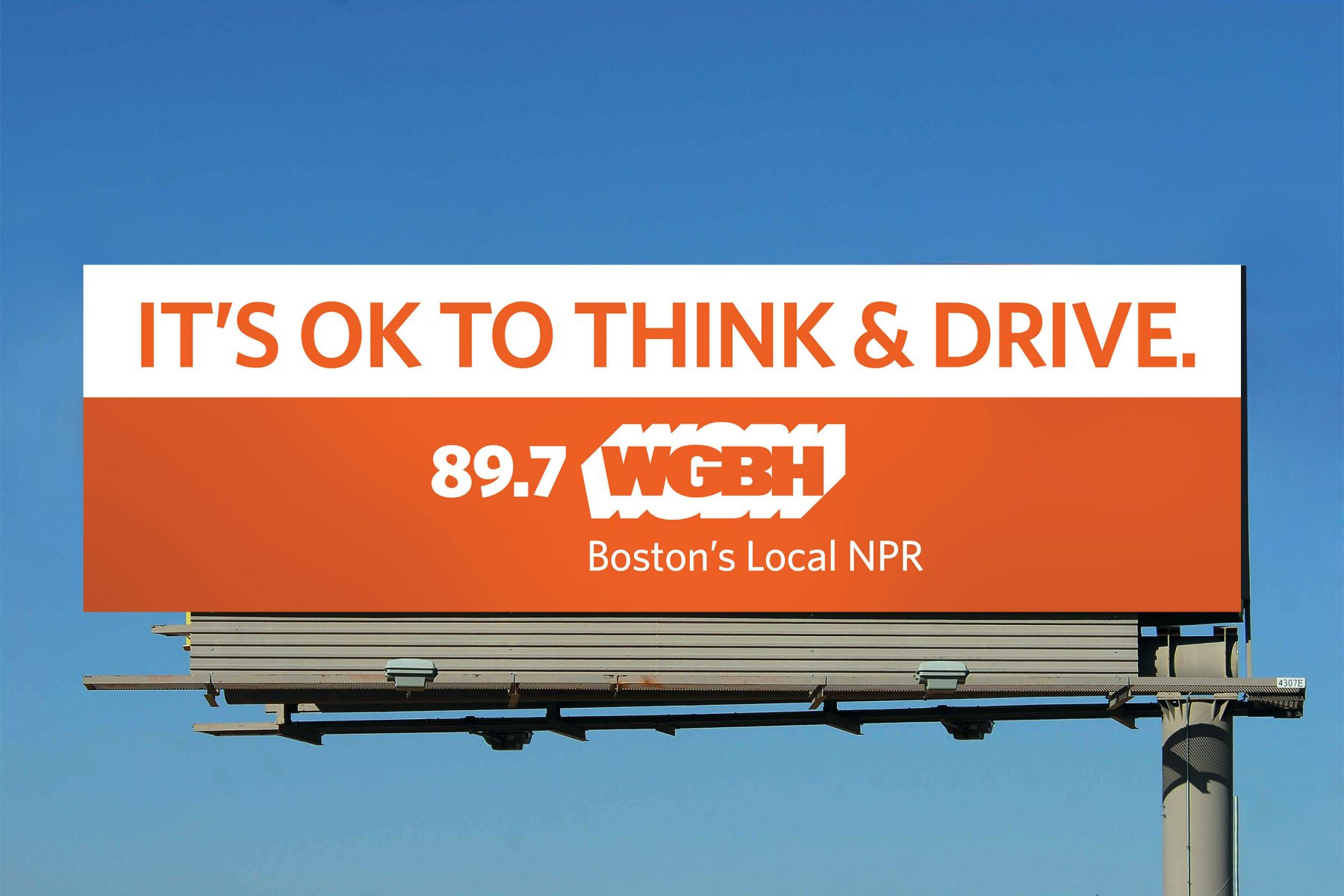 WGBH Billboard: It's OK to think & Drive.
